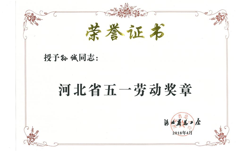 """戒赌吧去哪里了股份董事长孙诚荣获河北省""""五一劳动奖章""""荣誉称号"""